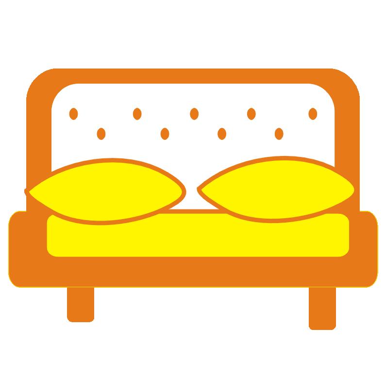 Wygodne łóżka w samodzielnym domku letniskowym na Rzotoczu.